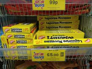 Barrats liquorice novelties 270 x 2 packs for £5 in store @ Home Bargains