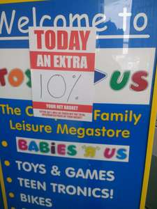Toys R Us - Extra 10% off final bill - in store only