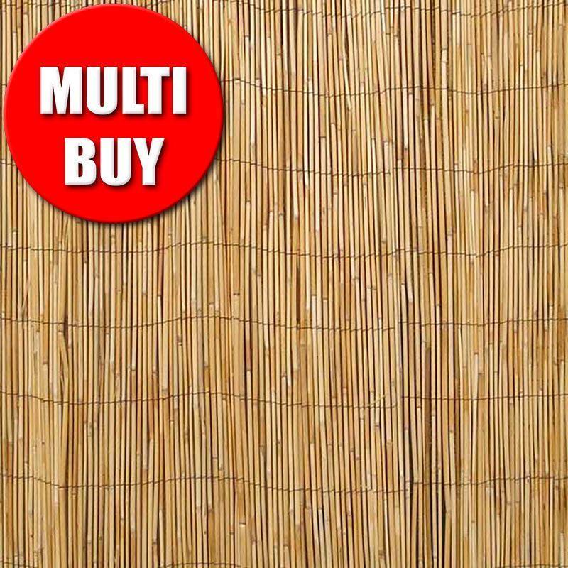 EBAY Natural reed screening roll  fencing multi buy 2 for £29.98 - Seller: greenfingerstradingltd