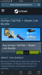 Steam Link PLUS Human Fall Flat – £14 19 Delivered @ Steam
