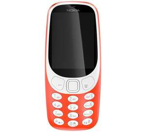 (in store only)  EE Nokia 3310 Mobile Phone - Red £29.99 + £10 top up @ argos