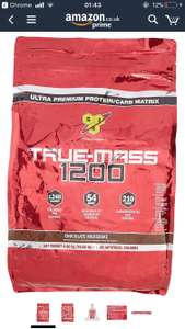BSN True Mass 1200 Gainer Powder, Chocolate, 4.8 kg £29.56 Del @ Amazon