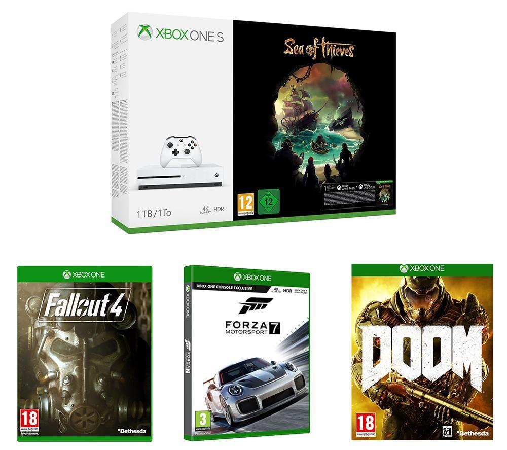 Xbox One S 1TB, Sea of Thieves, Forza Motosport 7, Fallout 4 & Doom Bundle £229.99 @ PCworld