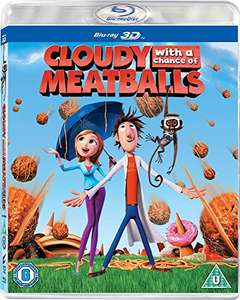 Cloudy with a Chance of Meatballs [Blu-ray 3D + Blu-ray] [2010] [Region Free] £3.86 prime / £4.85  non prime @ Amazon