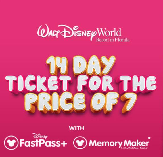 Walt Disney World Florida tickets adults £349 / Children £329 @ Floridatix