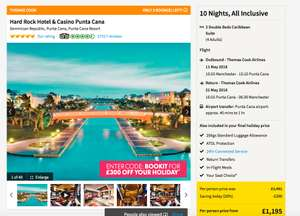 HARD ROCK BARGIN 10 Nights, All Inclusive with flights and transfur DOMINCAN REPUBLIC - family of 4 £4470 @ Thomas cook