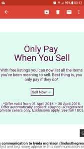 Ebay  sell as much as you like for the whole month of April with free listings only pay advertising if you sell.