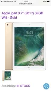 Apple iPad 9.7 2017 32GB Brand New (Gold, space grey, silver) £218.99 @ Toby deals
