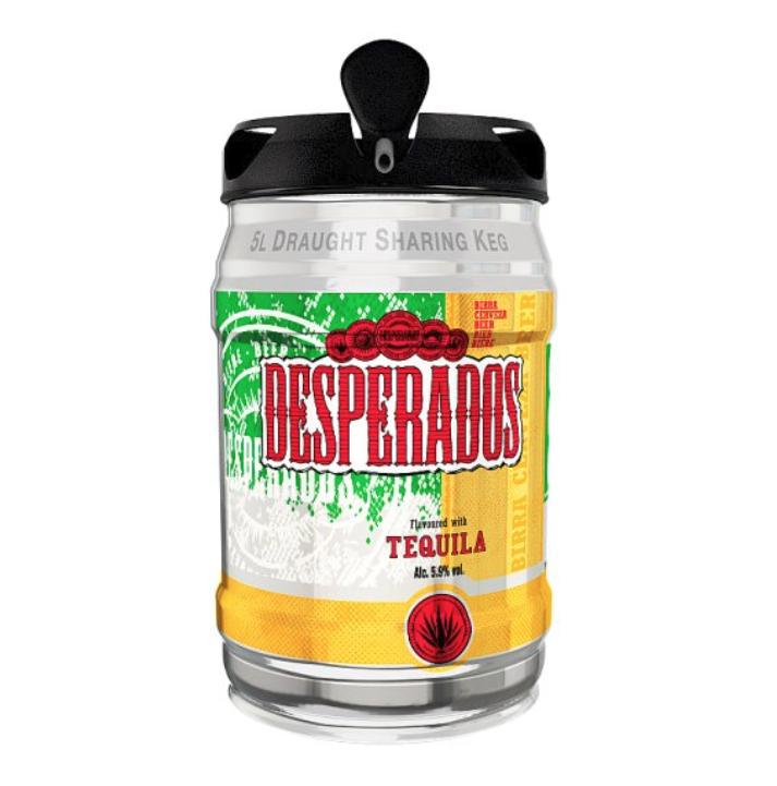 Desperados 5L kegs £15 @ Tesco Online