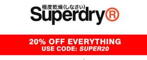 20% off everything on the Superdry website