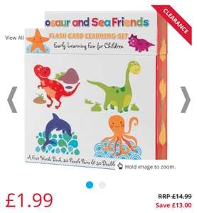 Clearance Educational Books, Flash cards, Puzzles, Games from £1.29 (£4.49 del) @ MandM Direct