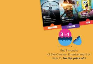 £10 cashback (Quidco) for a 3 month Now TV cinema pass (3 months for the price of 1) @ Now TV (Quidco)