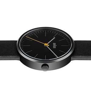 Braun Men's Quartz Watch with Black Dial Analogue Display and Black Leather Strap @ Amazon