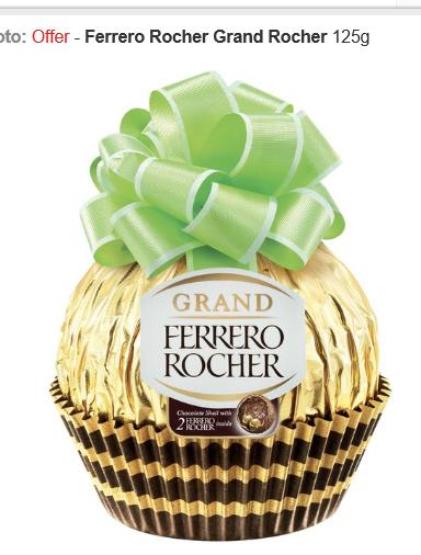 Ferrero Rocher Grand Rocher 125g £2.50 at Morrisons!