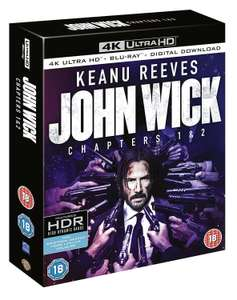 John Wick 1 and 2 4K Ultra £21.99 Delivered at ebay / theentertainmentstore
