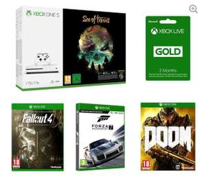 MICROSOFT Xbox One S 1TB - Sea of Thieves, Forza Motorsport 7, Fallout 4, Doom & Xbox LIVE Gold Bundle £238.99 @Currys (Free C&C) + Free £20 voucher with orders over £150 via VoucherCodes