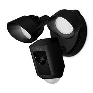 Ring Floodlight Cam £169.15 reduced from £249.00 - HD Security Camera with built-in floodlights, two way talk and siren alarm, black and white @ Amazon