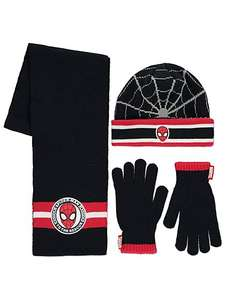 Marvel Spider man 3 piece set- hat,scarf,gloves age 4-8 yrs £5 was £10 @ Asda