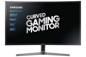 Samsung C32HG70 (LC32HG70) 32-Inch Curved WQHD Gaming Monitor (2560 x 1440, HDR, 144Hz, 1ms, sRGB 125%, FreeSync, Quantum Dot) £553 @ Amazon.it delivered
