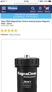 Adey Magnaclean professional 2 central heating system filter £81.60 with code @ Wickes