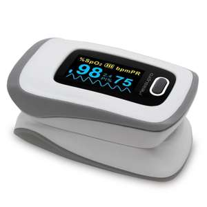 MeasuPro Instant Read Digital Fingertip Pulse Oximeter with OLED Display & Carrying Case, 2 Year Warranty £18.85 w/promo @ Amazon (Sold by Five Star and Fulfilled by Amazon)