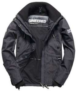 XS New Mens Superdry Technical Wind Attacker Jacket Dark Charcoal Marl £23.99 (RRP £74.99) @ Superdry EBay store + Free Delivery