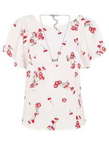 Blouse & necklace 10,12,14,16 now £7 was £14 @ Asda