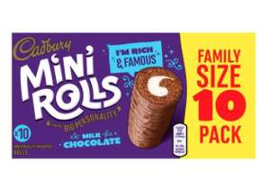 Cadburys Chocolate Mini Rolls 10 Pack £1.24 (From 3rd April) @ Tesco