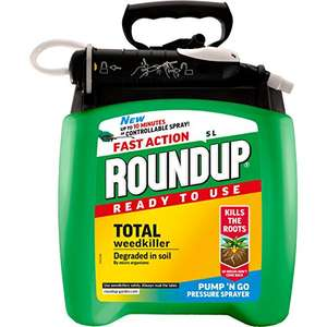 Roundup Fast Action Weedkiller Pump n Go Spray (Ready to Use), 5 L at Amazon for £19.99 Prime (£20+ free delivery)