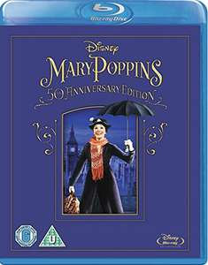 Mary Poppins 50th Anniversary Edition [Blu-ray] [Region Free] £9.99 prime / £11.98 non prime @ Amazon