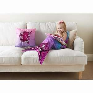 Mermaid tail blanket £8.99 pink / blue @ b&m reversible 2way sequins ASOTV
