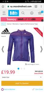 Adidas Womens Adizero Climaproof Vented Jacket £19.99 / £24.48 delivered @ M&M direct