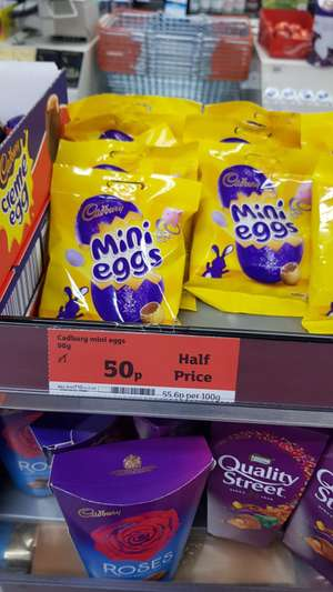 Cadbury Mini Eggs 90g for 50p @ Sainsburys