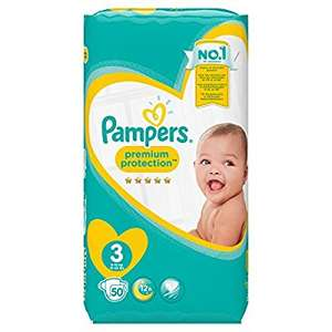 *100 Nappies* Pampers Premium Protection Size 3, 6-10 kg - was £14 now £7.50 (Prime exlusive) @ Amazon