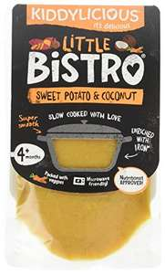 Kiddylicious Little Bistro Sweet Potato & Coconut Stage 1 100g - Pack of 8 amazon add on item minimum 20 pound spend