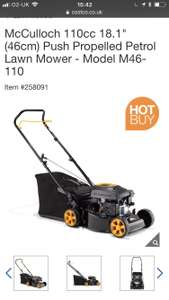 "McCulloch 110cc 18.1"" self propelled mower - £149.89 @ Costco"