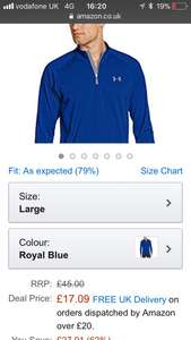 Under Armour Men's Tech 1/4 Zip Long Sleeve T-Shirt £17.09 prime / £21.08 non prime @ Amazon