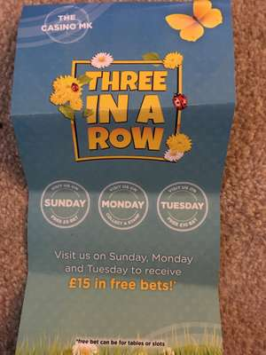 FREE £5 and £10 bet @ Aspers Casino MK