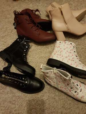 Various styles of boots from £3 at Primark