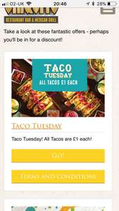 TACO TUESDAY- £1 a Taco @ Chiquitos