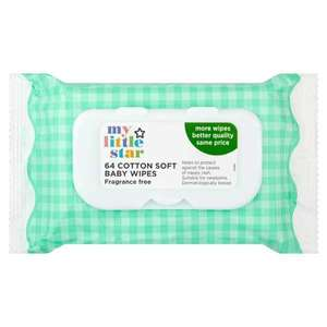 Superdrug My Little Star Fragrance Free Wipes 12x64 Wipes Packs For £7 Free C&C. Online Only Deal.
