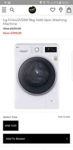 LG 9kg 1400 spin washing machine £399.99 + £19.95 Delivery @ Bargain Crazy (£379.94 Delivered with code)