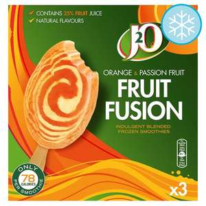 J2o Orange And Passion Fruit Smoothie 3 Pack // J20 Apple And Mango Fruit Fusion Smoothie 3 Pack £1.00 @ Tesco
