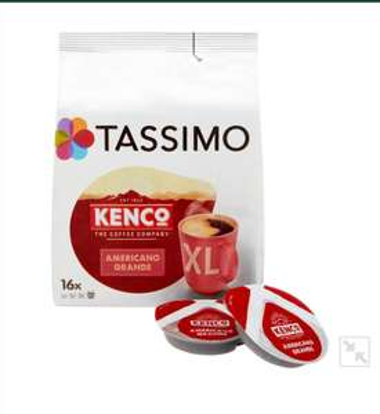 Tassimo Kenco Americano Grande XL Coffee Buy 2 for £7 at Morrisons
