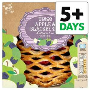 Apple And Blackberry Lattice Pie 500g for £1.37 @ Tesco (from 04/04)