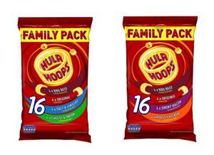 Hula Hoops Family Variety or Meaty Variety 16 packs for £1.60 @ Iceland