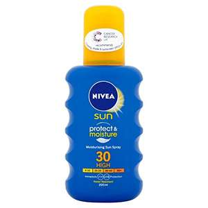 Nivea Moisturising Sun Spray, High SPF 30 £4 @ Amazon (add on item)