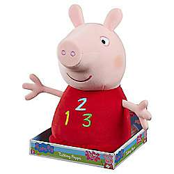 Peppa Pig 14 inch Talking Peppa 123 - £10 @ Tesco Direct