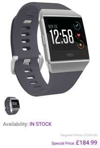 Fitbit Ionic smartwatch - £184.99 @ Toby Deals