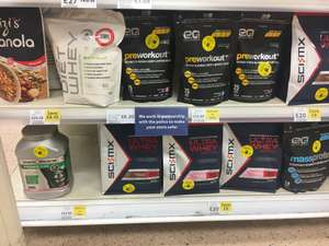 Protein products reduced to clear instore at Tesco Metro Liverpool St London